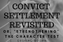 Convict Settlement Revisited