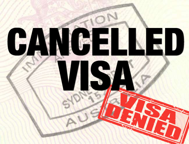 Cancelled Visa - Erskine Rodan and Associates