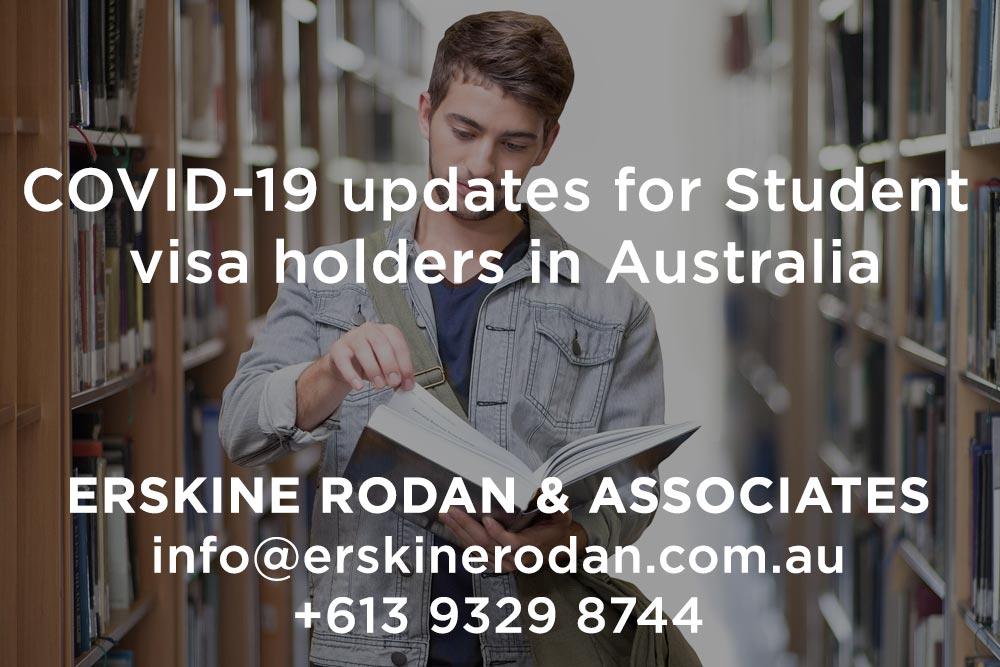 Coronavirus Covid-19 updates for Student visa holders in Australia