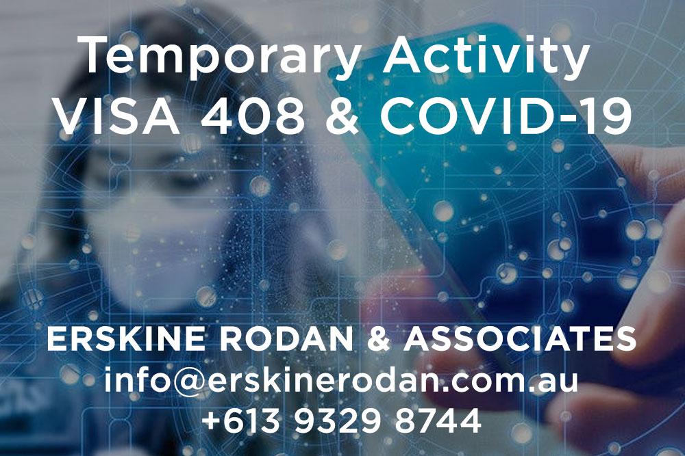 immigration lawyers temporary activity visa 408 covid 19 coronavirus